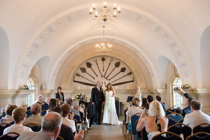 Wedding at the back of Normanton Church
