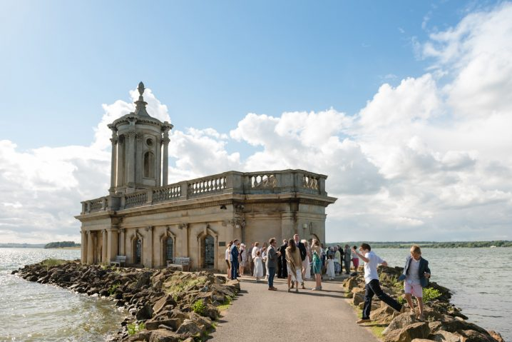 Guests enjoying the scenery at Normanton Church