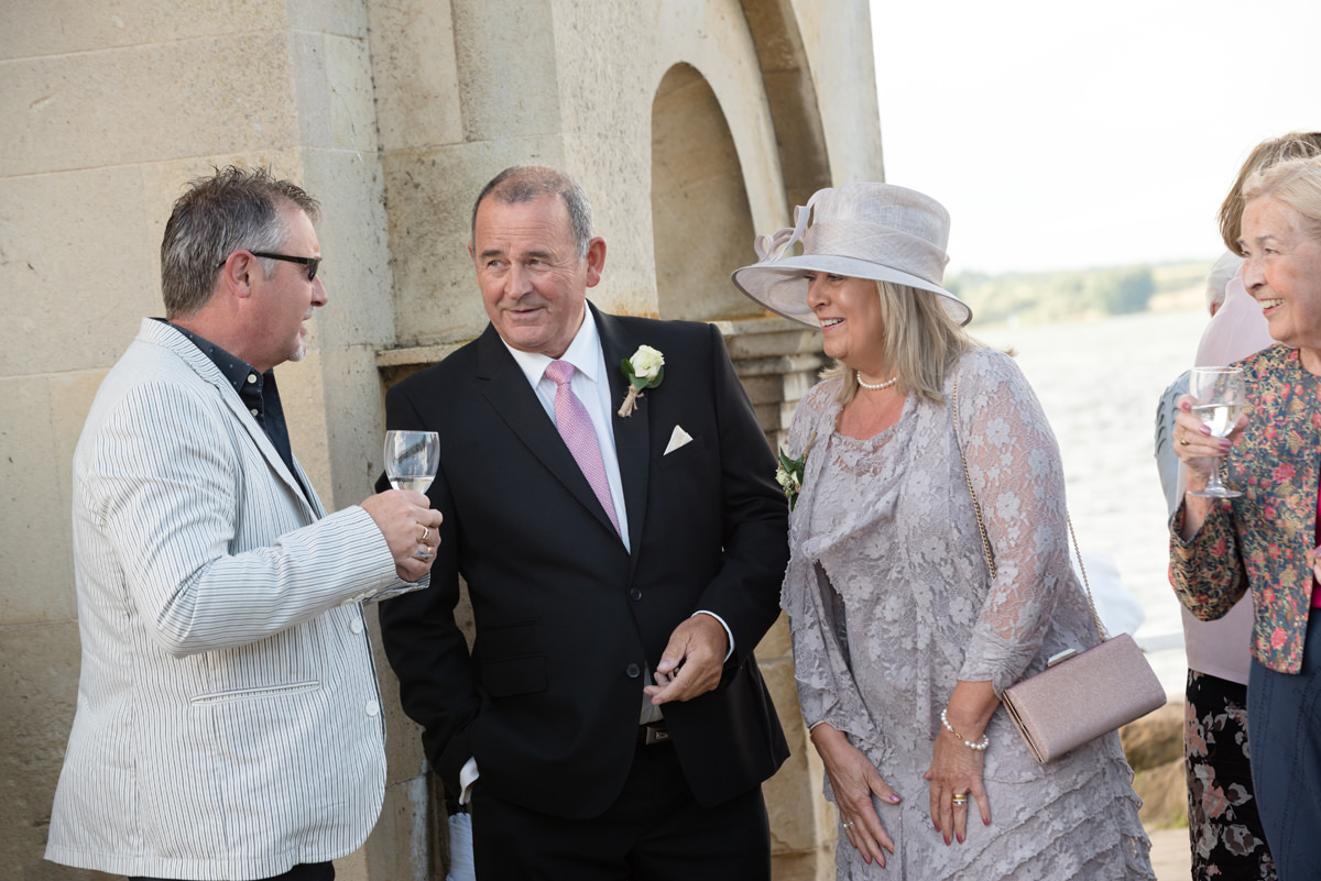 Parents of the bride at Normanton Church