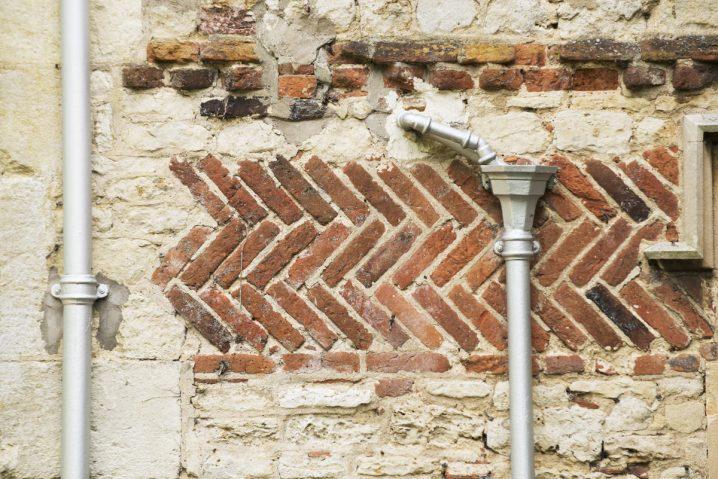 Herringbone brickwork at Notley Abbey