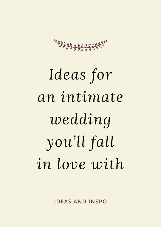 Cover image for blog post of intimate wedding ideas
