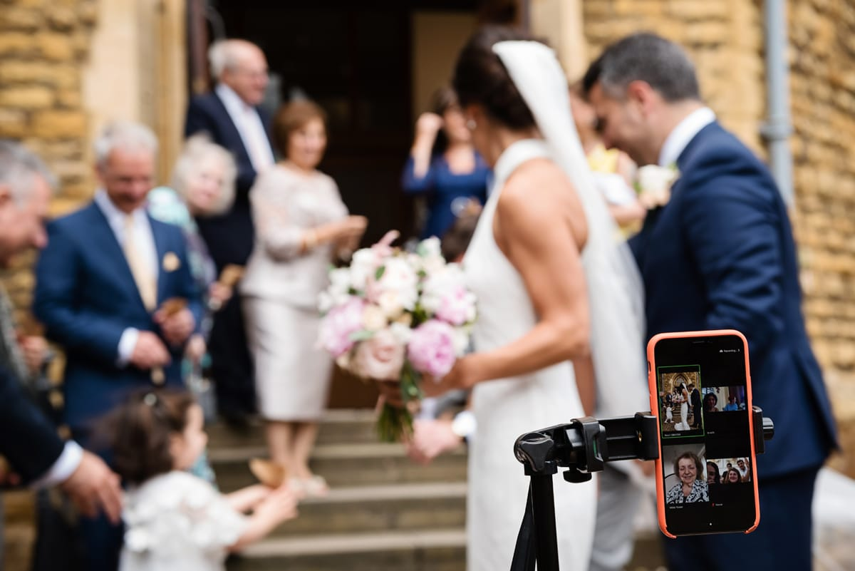 Livestreamed lockdown wedding at Northampton Cathedral