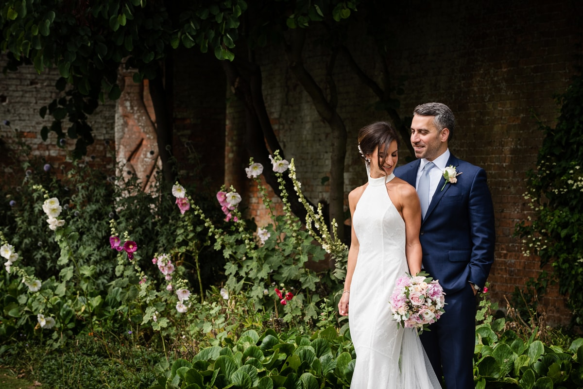 Bride and groom at Delapre Abbey