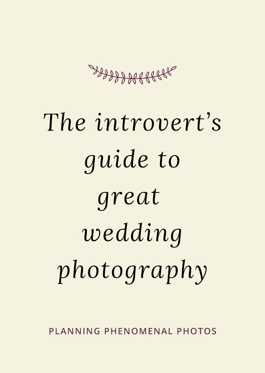 The introvert's guide to great wedding photography blog post cover