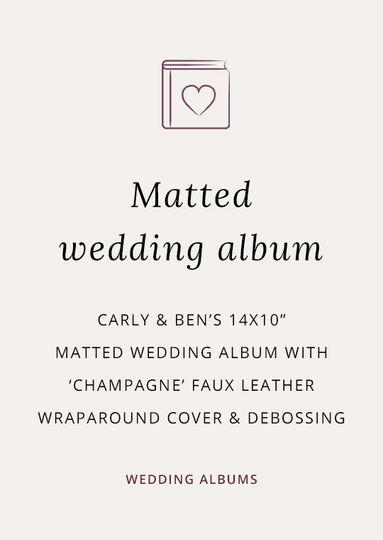 Cover for matted wedding album blog post
