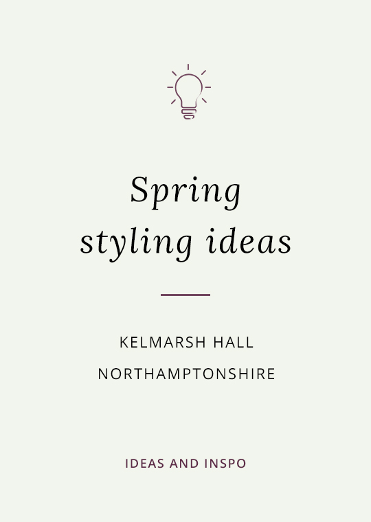 Cover image for blog post about spring wedding ideas at Kelmarsh Hall