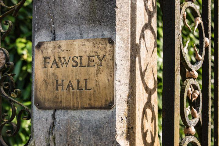 Fawsley Hall sign