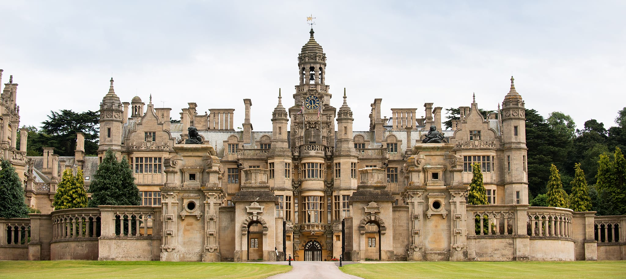 The front of Harlaxton Manor