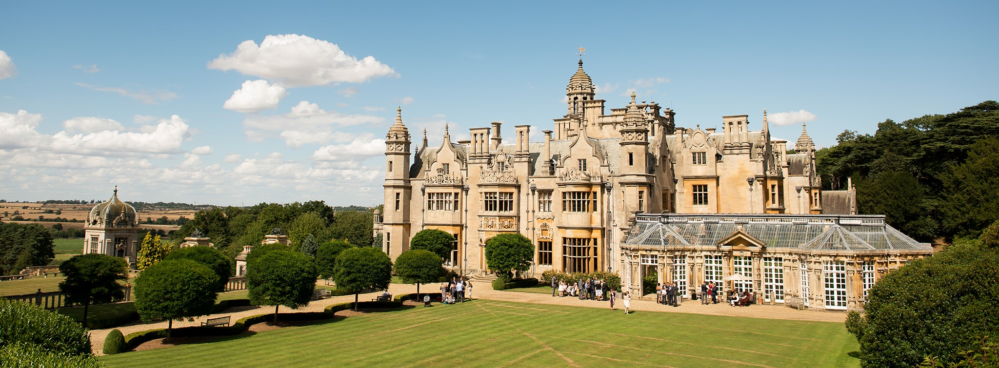The lawn at Harlaxton Manor