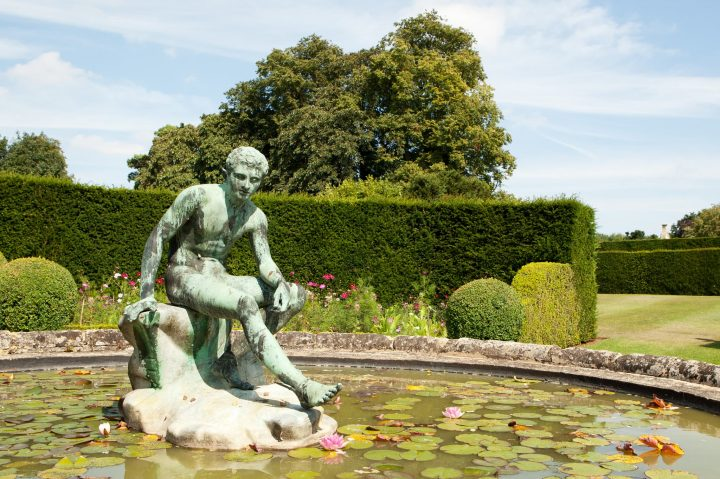 Lily pond garden at Holdenby House