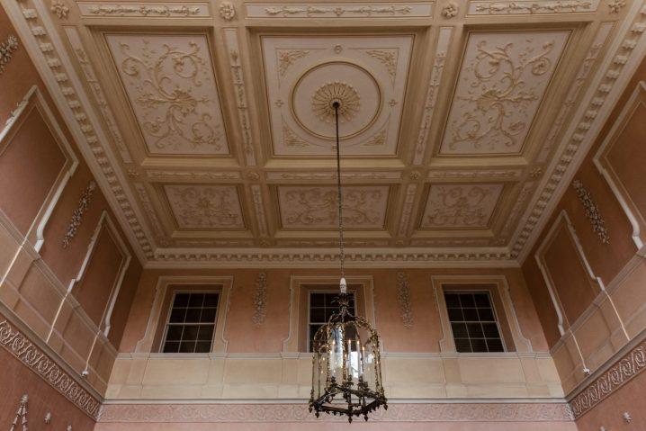 The ceiling in the Great Hall at Kelmarsh Hall