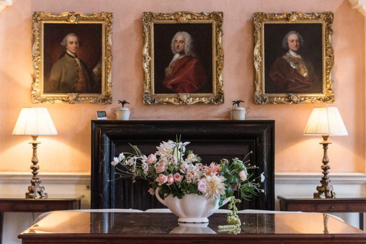 Paintings in the Great Hall at Kelmarsh Hall