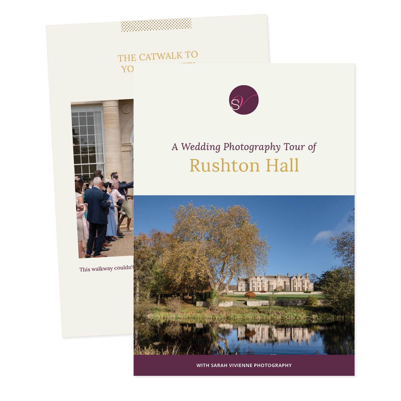Rushton Hall wedding photography brochure