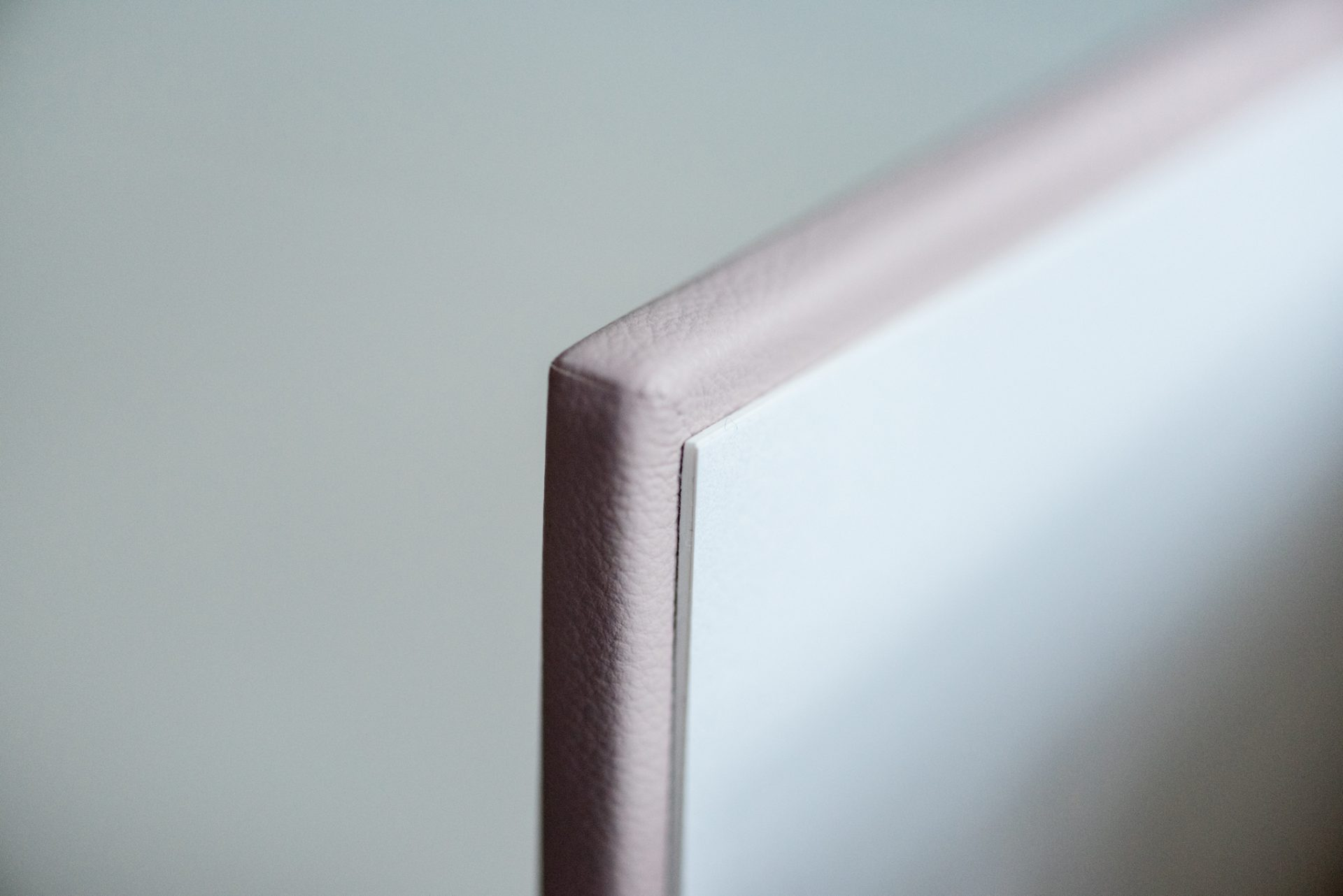 Folio fine art album blush pink leather cover