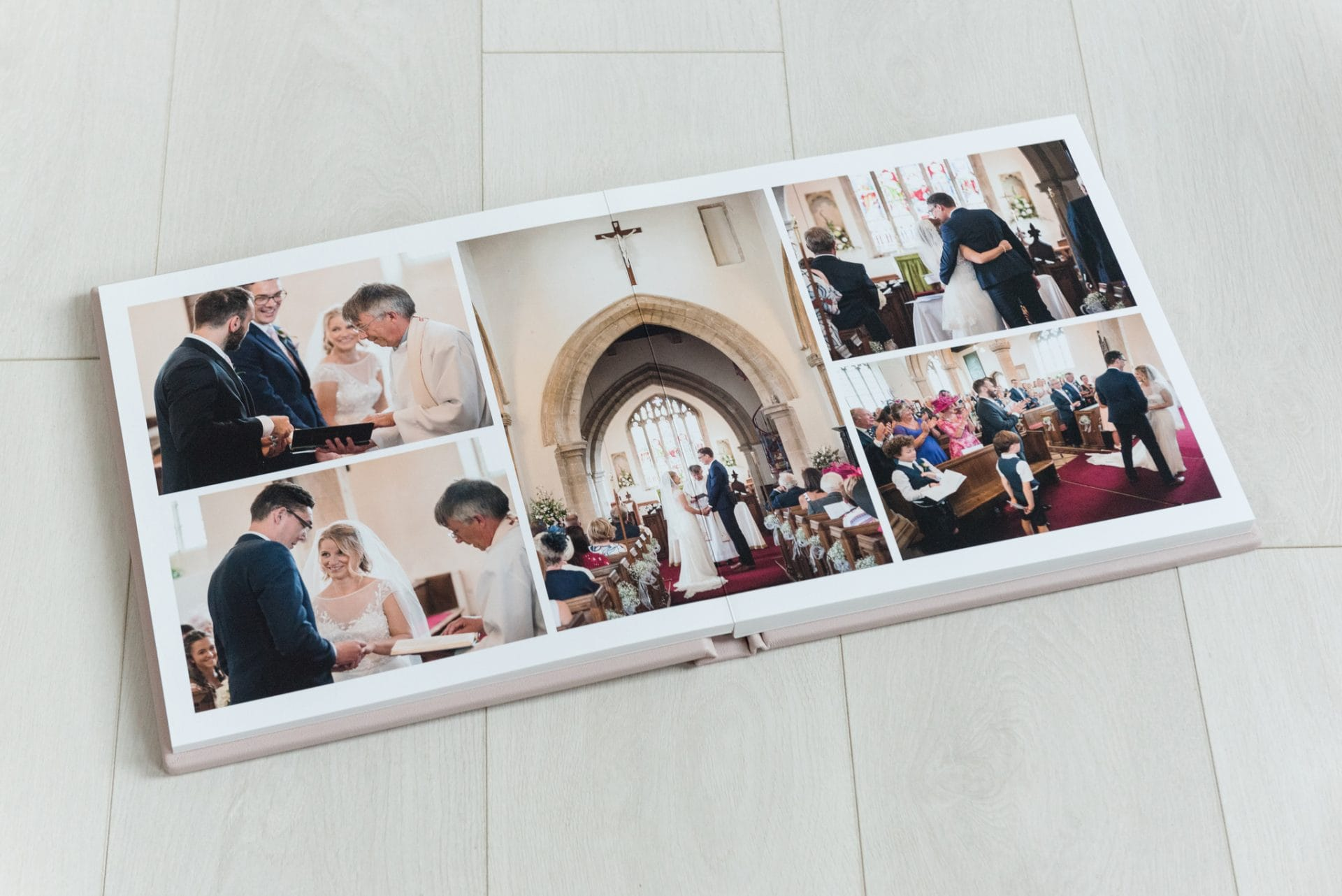 Image printed across centre of a 12x12 fine art album