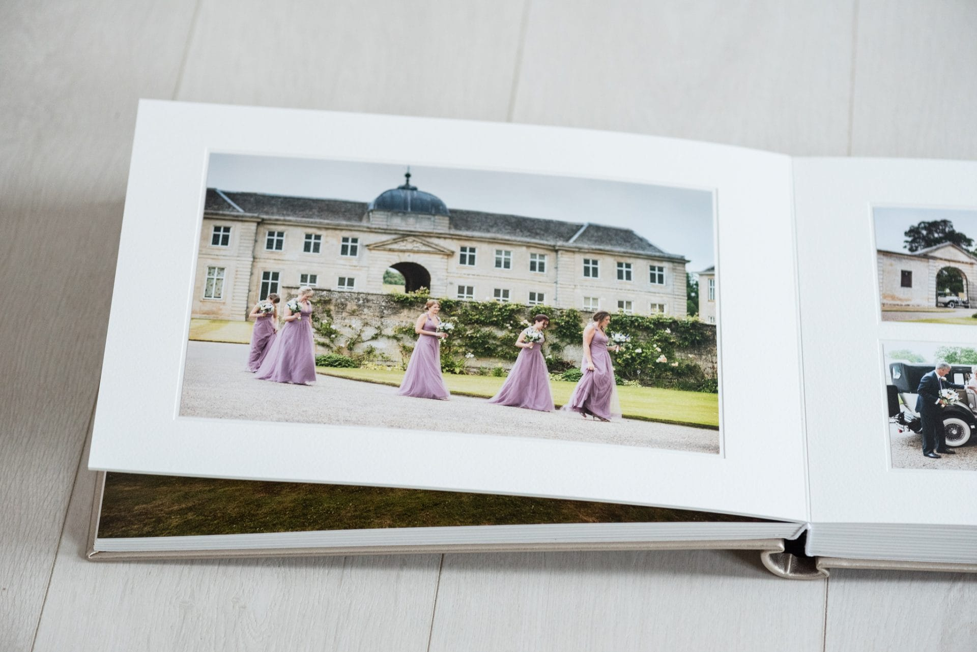 Matted page in a Queensberry duo wedding album