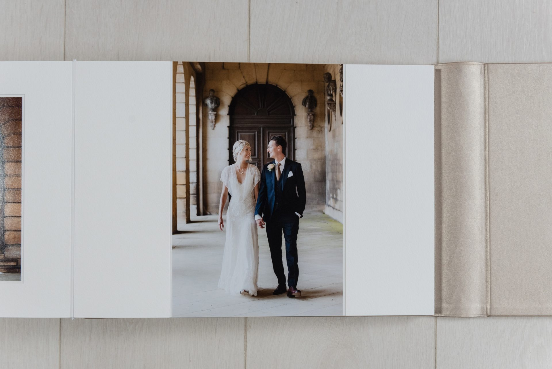 Duo page in a Queensberry matted album