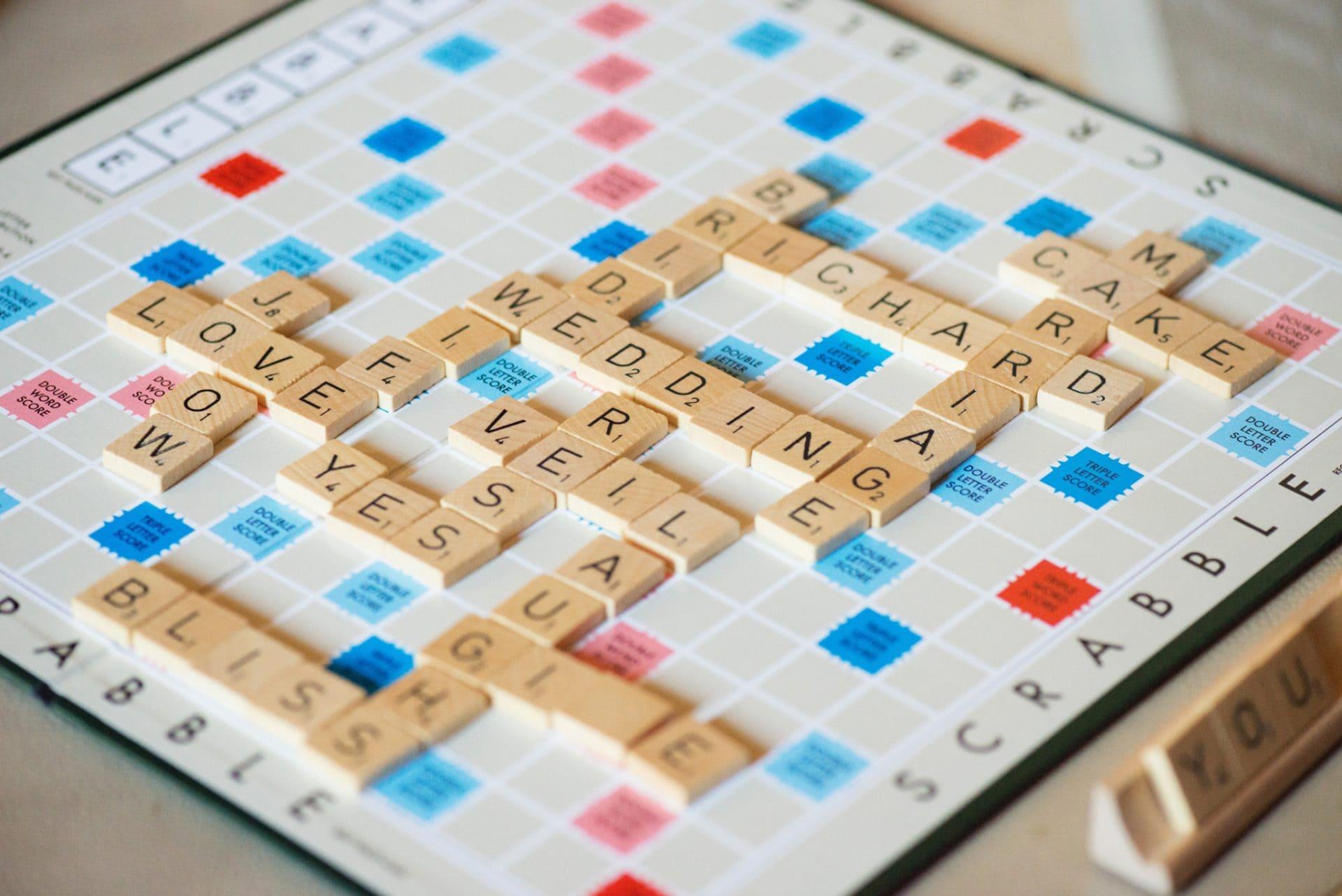 Scrabble at a wedding