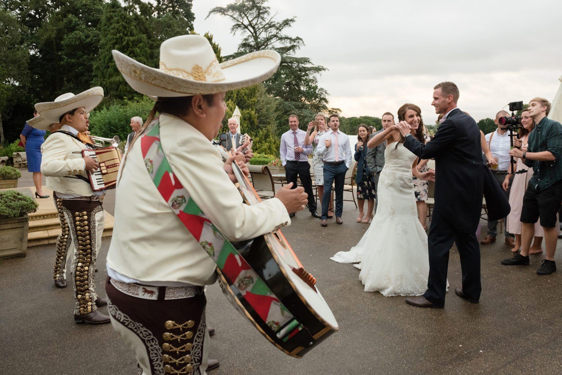 Mariachi band at a wedding
