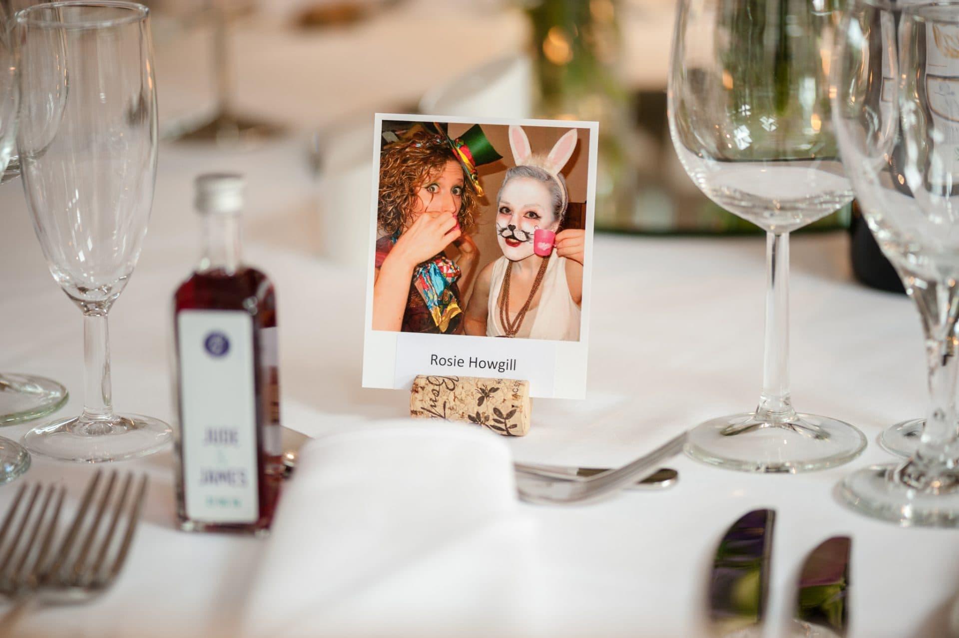 Wedding guest polaroid placename
