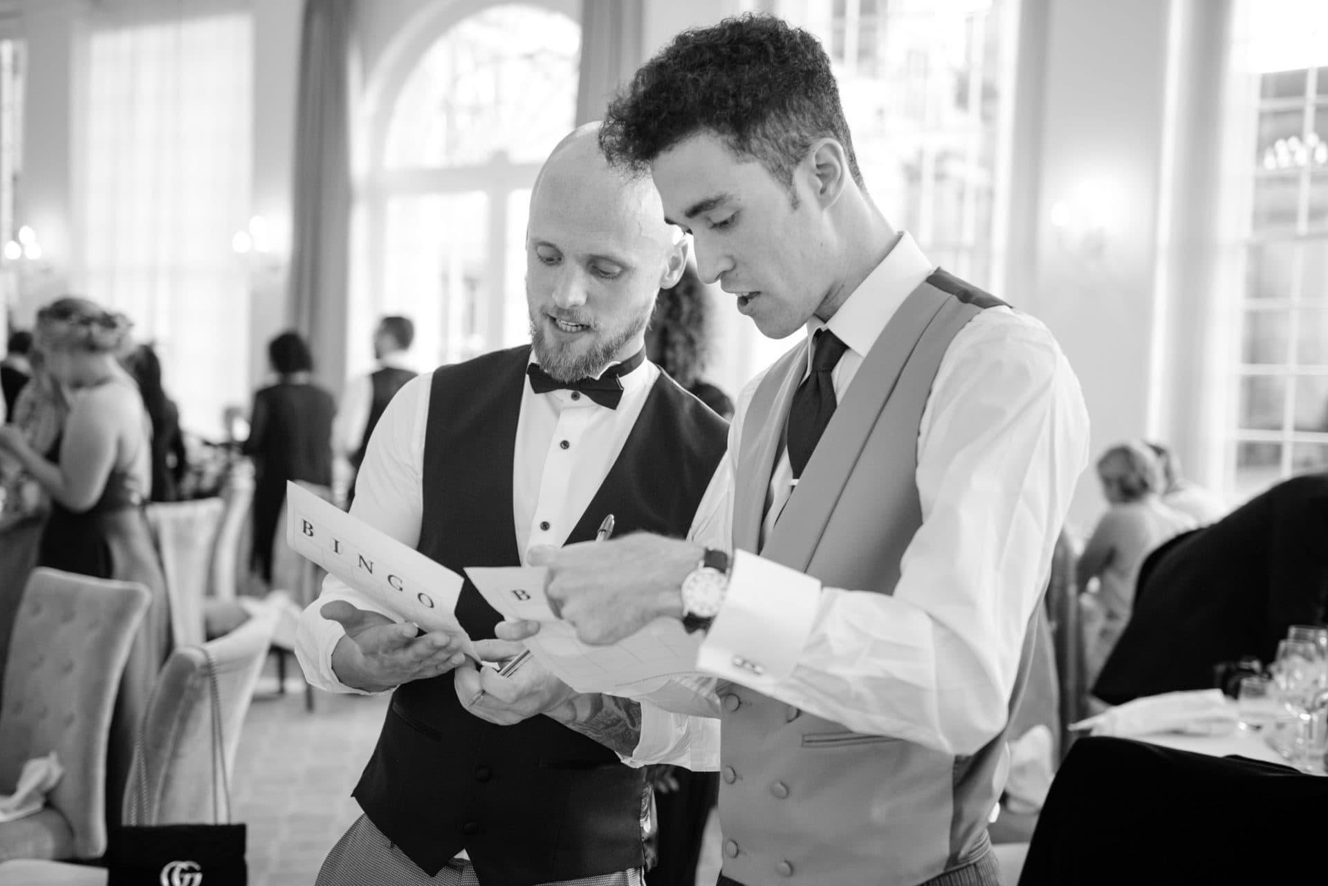 Wedding guest bingo