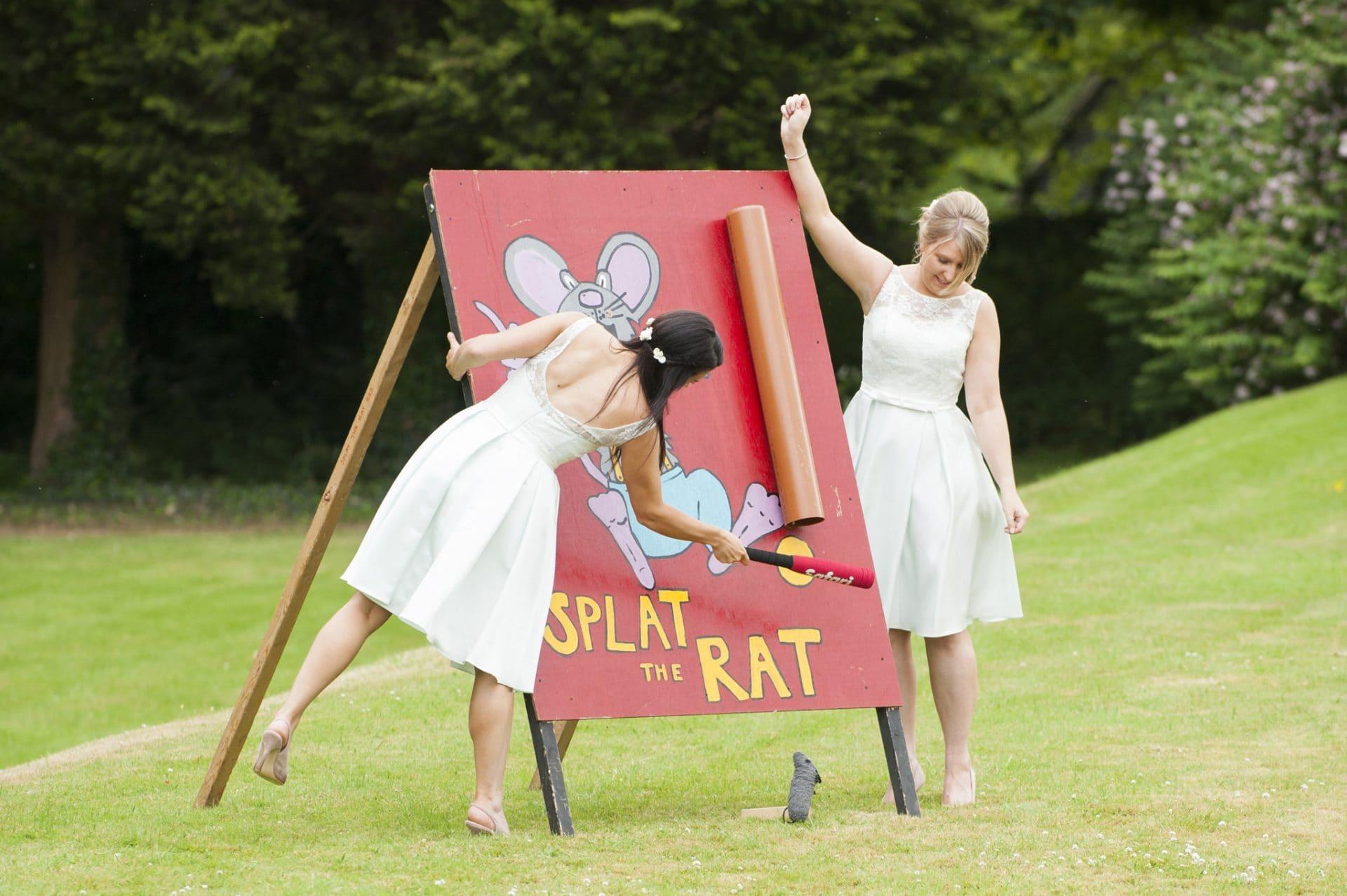 Splat the rat game at a wedding