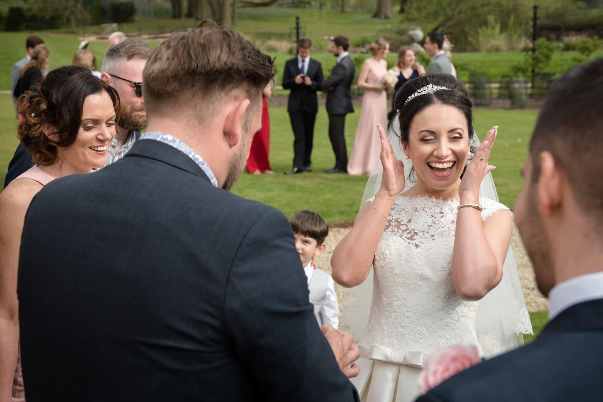 Magician at a wedding at Woburn Abbey