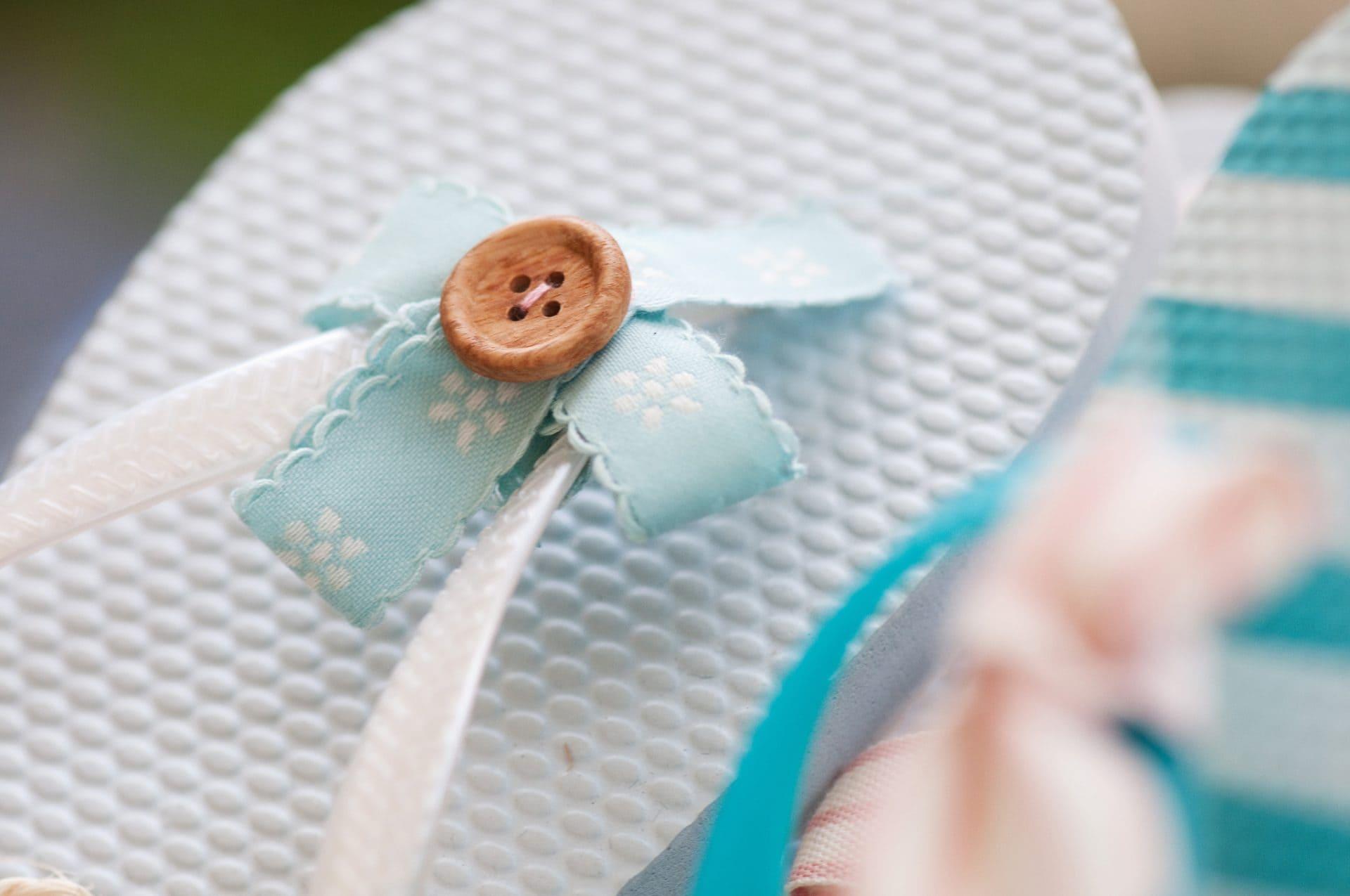 Flip flops at a wedding