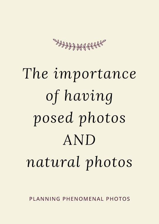 Cover image for blog post about having posed as well as natural photos